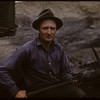 Herman Wilkins in his lignite coal mine.	 Shaunavon.	 06/18/1947