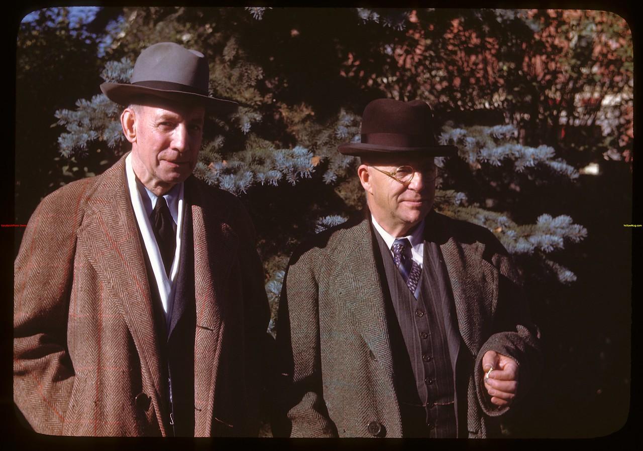 President John H. Wesson and Secretary George Robertson of Sask. Co-op Producers Ltd..  Regina.  10/17/1946