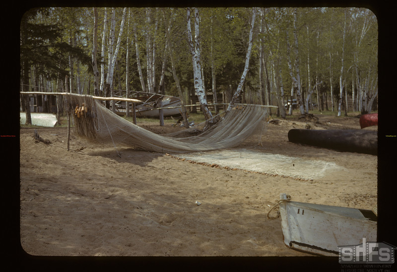 Commercial fishing nets. Loon Lake.  05/24/1942