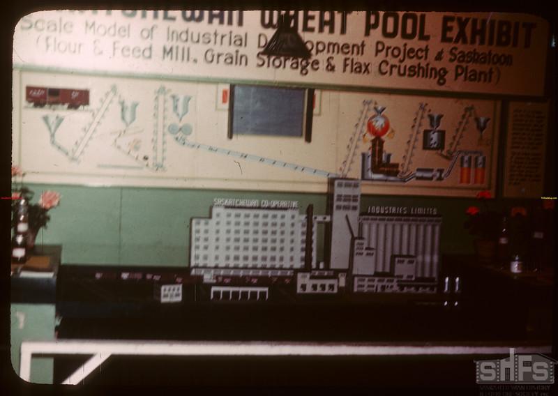 Sask. Wheeat Pool exhibit of Saskatoon project at Regina Fair.  Regina.  07/31/1946