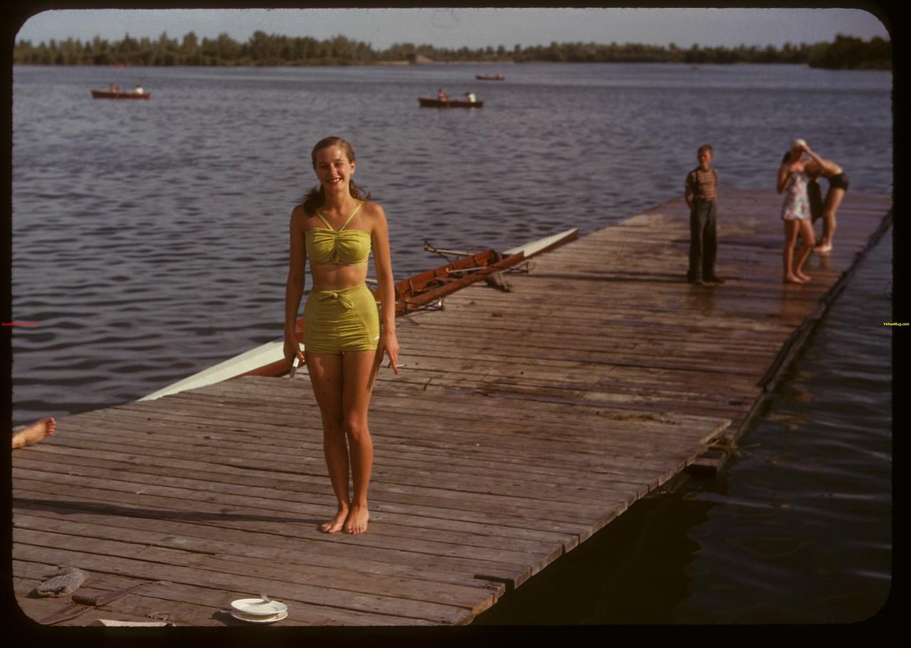Adele Andrews at the Regina Boat Club.  Regina.  08/03/1947