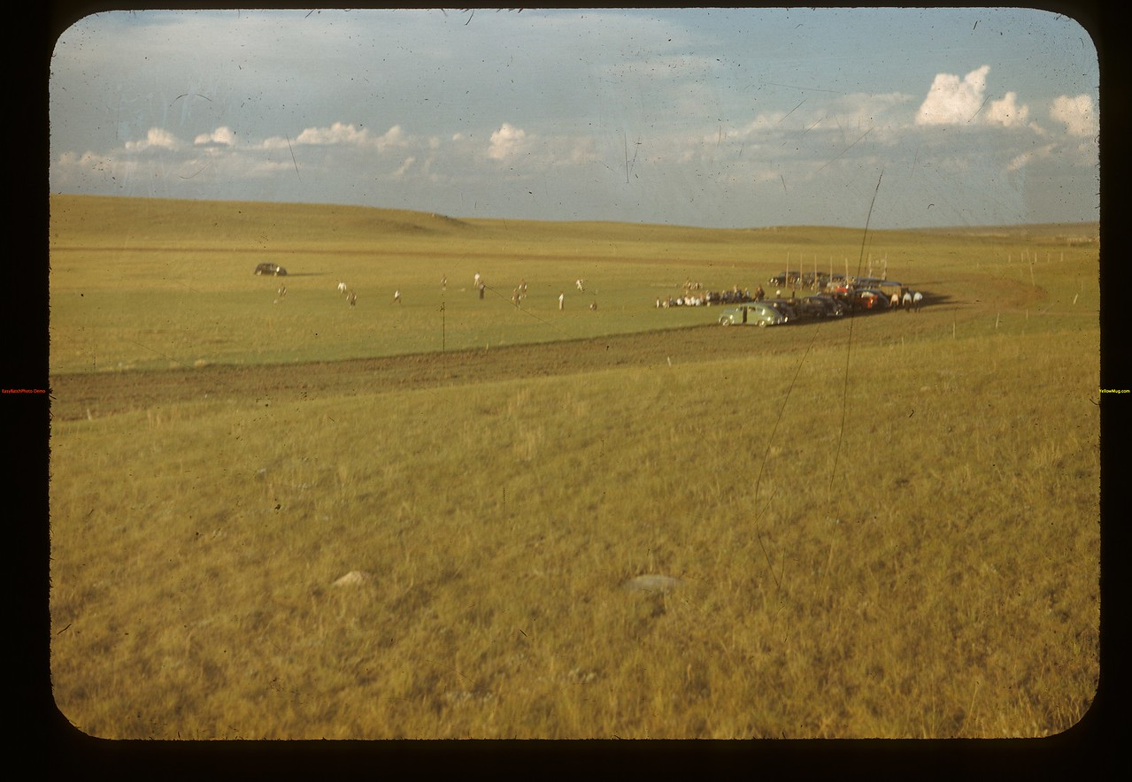 Ball game on the prairies. Mankota 06/08/1948