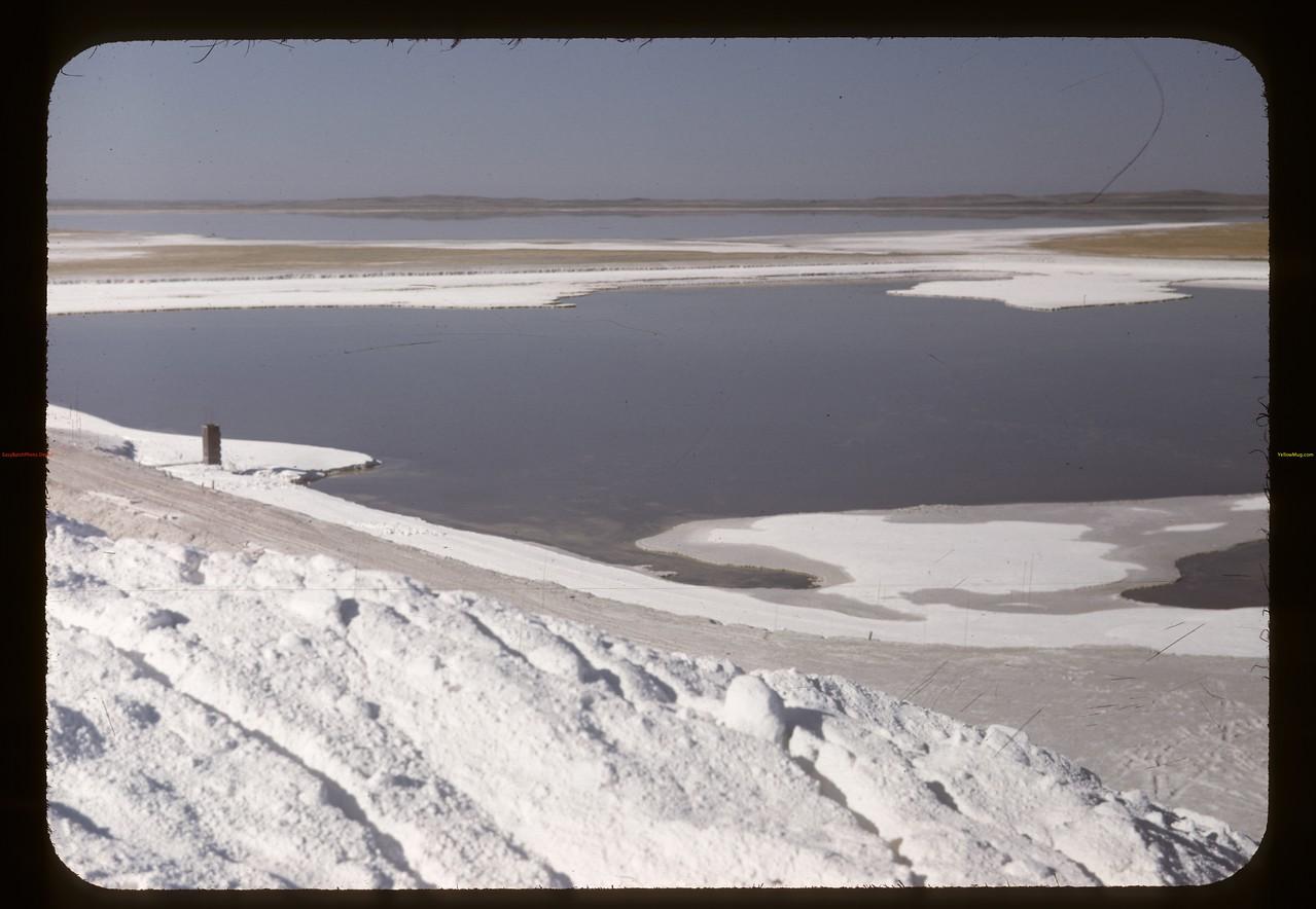Waters of Lake Chaplin precipitating NaSO4. Chaplin 05/28/1948