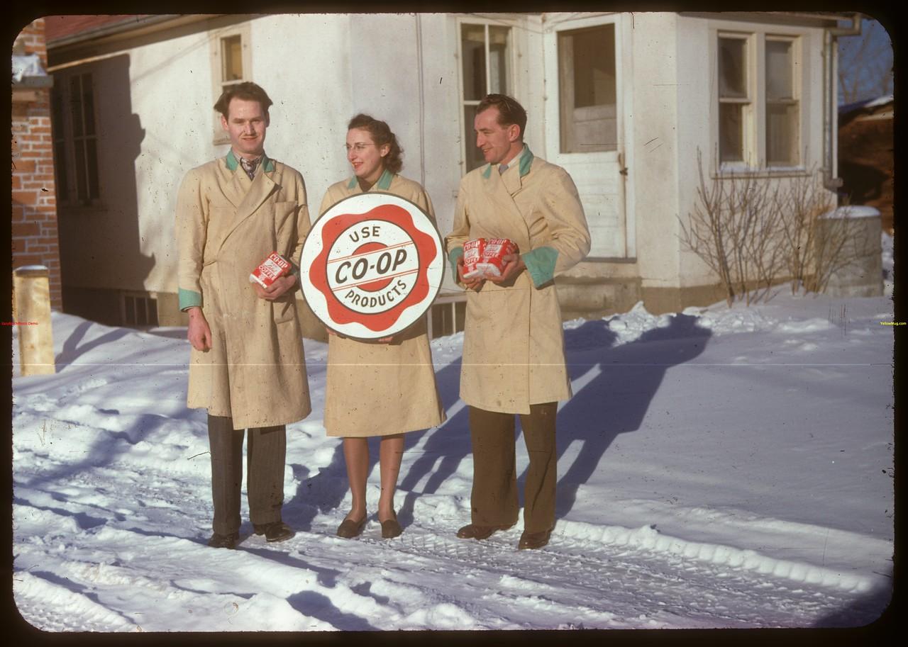Co-op store staff..  North Battleford.  02/02/1948