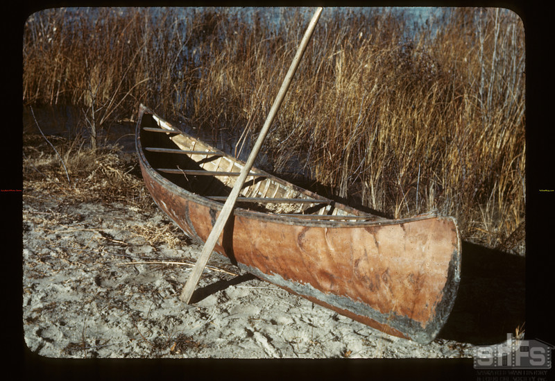 The chiefs birch bark canoe. Loon Lake.  10/29/1943