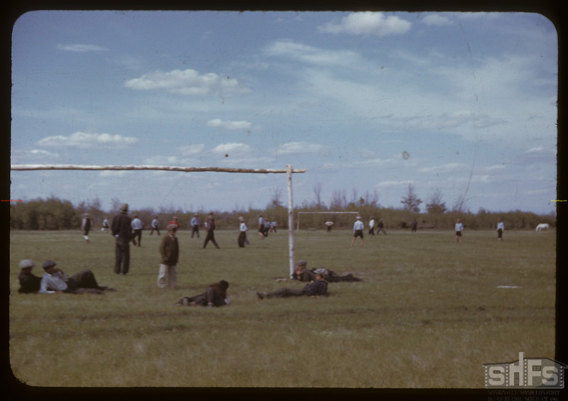 Indian Football. Sweetgrass Indian Reserve.