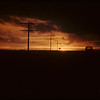 Sunset from North Battleford to Highgate.  North Battleford.  03/17/1942