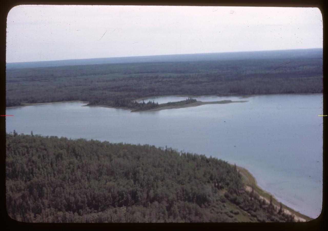 Aerial view of North Saskatchewan River..  Prince Albert.  06/21/1946