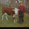 Marion Loewen and her Reserve Champion.	 Mankota	 06/08/1948