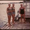 Jan McCollough & Jean Dewitt and Joan Dewitt Regina Boat Club swim meet.  Regina.  08/16/1947