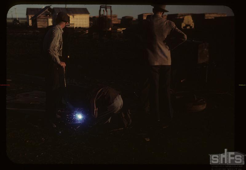 Co-op farm welding. Carrot River 07/18/1949