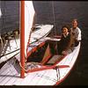 Dorice Brown and Bob Sharp - sailing on Wascana Lake Regina 08/16/1947