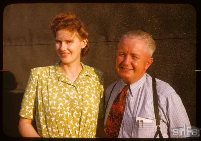 Mr & Mrs Pop Jordan - Dep. Mayor - PA Co-op school..  Prince Albert.  07/09/1947