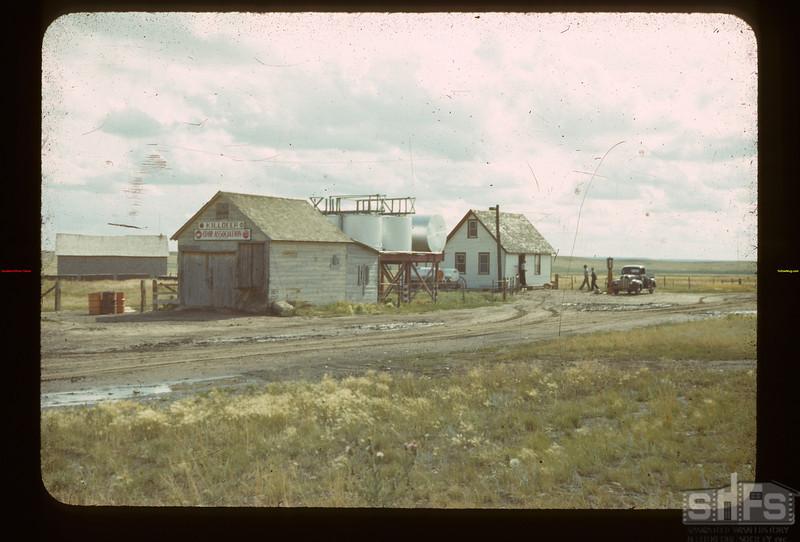 Co-op Oli Station & Community Hall Killdeer 08/30/1942