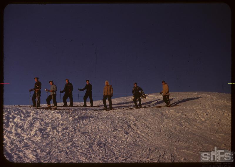 Skiers ready to start - Youth Training School..  North Battleford.  02/01/1948