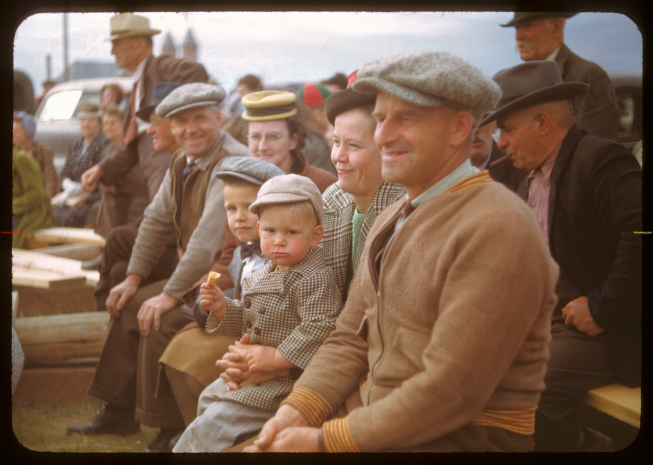 Alf. and Ted Corbins at Calf Club show and sale..  Ponteix.  06/09/1948