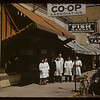 Saskatoon Co-op store and staff. [on 2nd Ave. between 21st & 22nd Streets - fish market's name is Billingate - which is named after a market in London England]. Saskatoon 06/07/1941