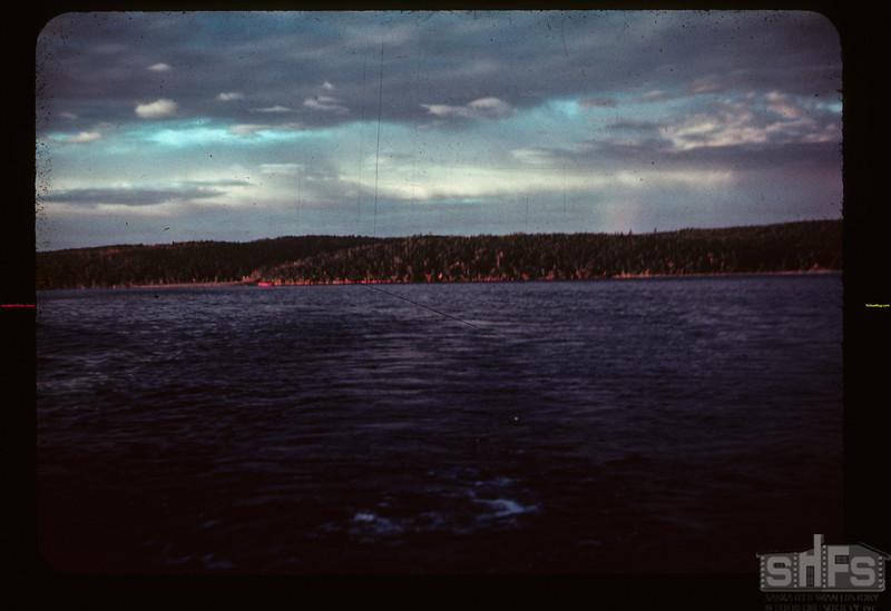 Fishing. Sunrise 6.15 A.M. Lower Makwa Loon Lake 08/22/1944