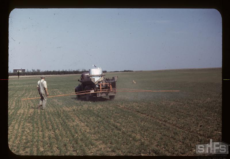 Spraying at Harry Wickstrom's. Admiral. 06/20/1949
