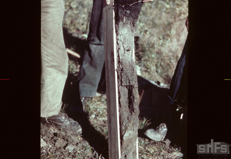 """soil profile """"in the box"""" Loon River 09/23/1944"""