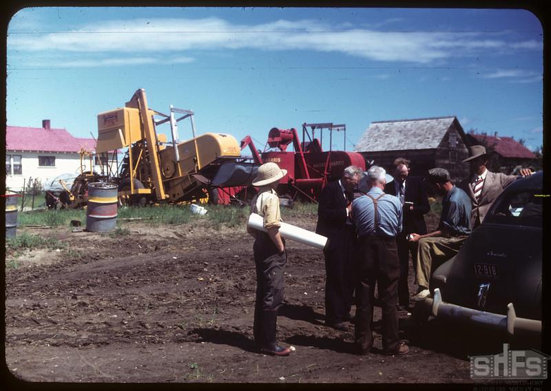 District 3 Study tour - Mount Hope Co-op Farm - Secretary - Armand Keall Machinery.  North Battleford.  07/21/1949