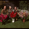 Mrs. J.B. Finlayson with glads (Zuni & Charm) - 2950 Retallack Street.  Regina.  08/15/1947