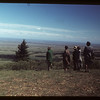 Co-op recreational group looking toward Maple Creek from Bald Butte Cypress Hills 06/30/1949