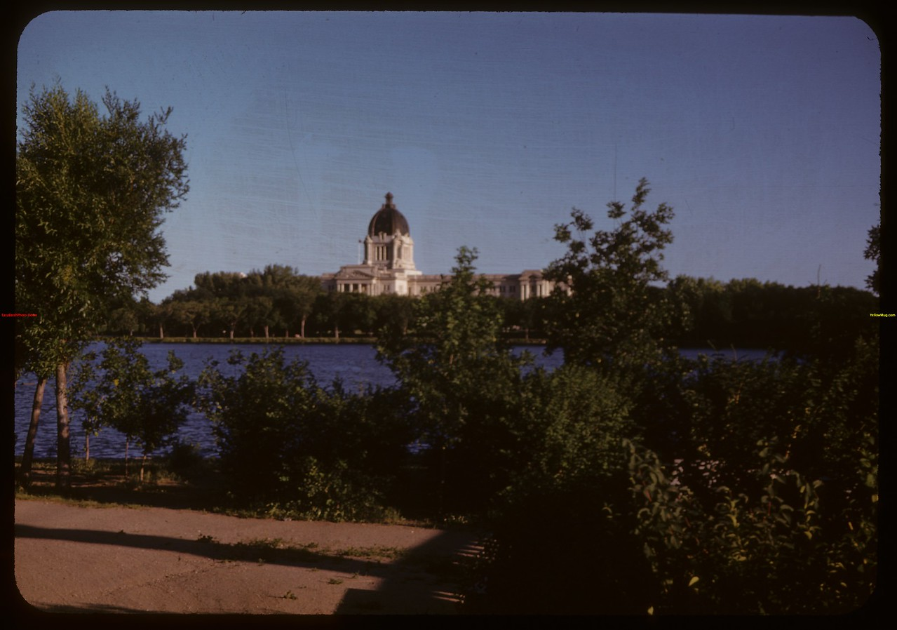 Legislative Building from Wascana Park.  Regina.  07/14/1947