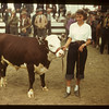 Donna Pelkey and her 3rd prize calf	 Consul	 05/31/1949