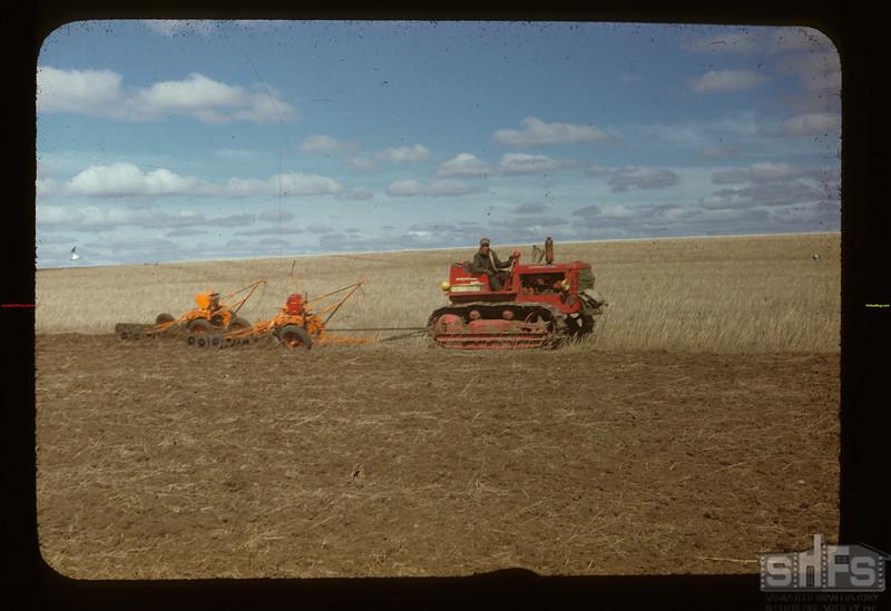 Cat. pulling 2 Co-op T. C's. Matador Co-op Farm Matador 05/15/1948