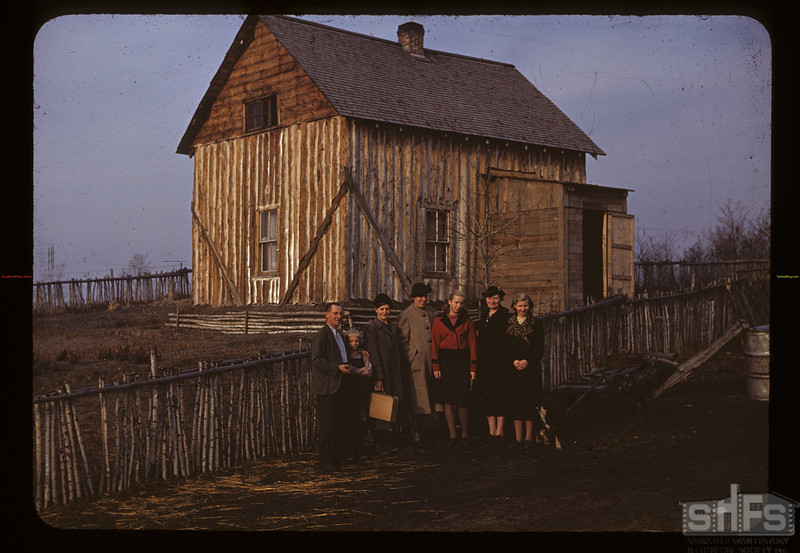 Edmund Rohac's. [standing in front of house].  Mankota. 10/20/1940