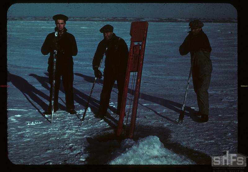 Winter fishing - Jackfish Lake - with jigger Meota 01/06/1942