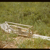 Old indian sled near cabin - north of Waterhen	 Dorintosh	 07/08/1942