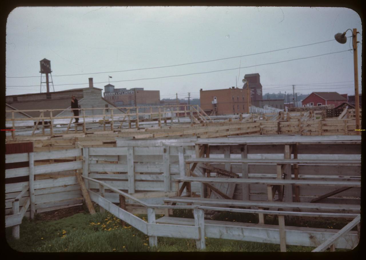 Stockyards - facing bridge..  Prince Albert.  05/30/1944