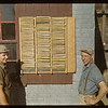 Pool Agent Art Ryswick and Assistant Gordon Allison with remitance books. Aneroid. 09/11/1948