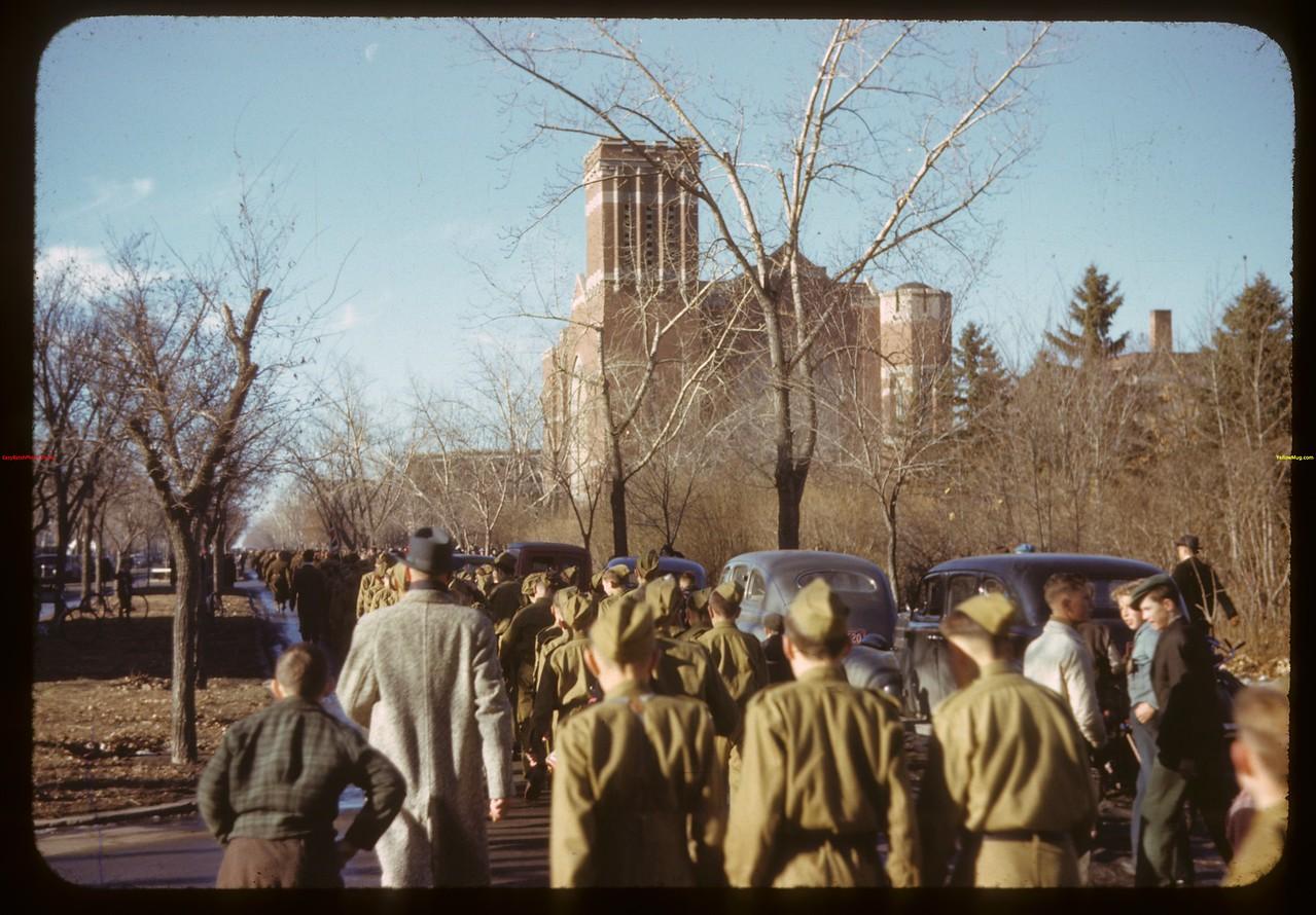 Armastice Day - Victoria Ave and Scarth Street.  Regina.  11/11/1941