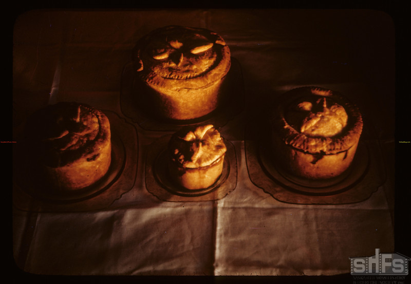 Pork pies made by Mrs. Charles Hare.  Bapaume. 12/18/1941