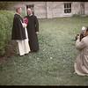 Bishop Lemieux and Father Aries.  Wakaw.  06/08/1947