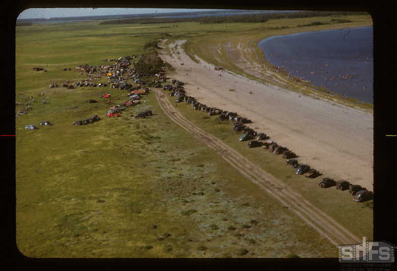 Road along the beach as seen from the air	 Fishing Lake	 07/13/1947