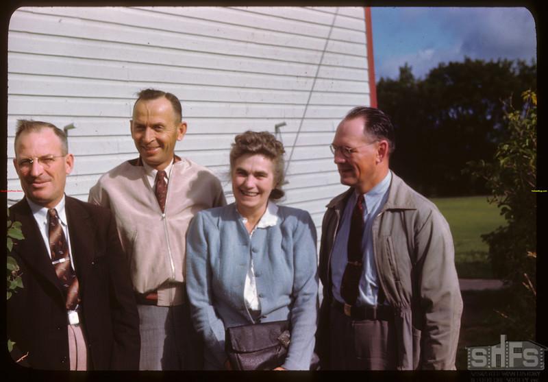 Managerial staff - PA Co-op school.  Wilson Parker - Melfort; John Stratychuk - Saskatoon; Mrs. Fred Mollard - PA; Alex Gilliland - Yorkton..  Prince Albert.  07/12/1946