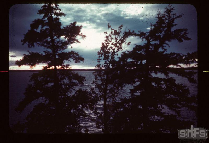 Sunset Loon River. Lower Makwa Loon Lake 09/23/1944