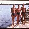 Jim Horne & Tom Hodges and Johnny Clements - Regina Boat Club.  Regina.  08/19/1947