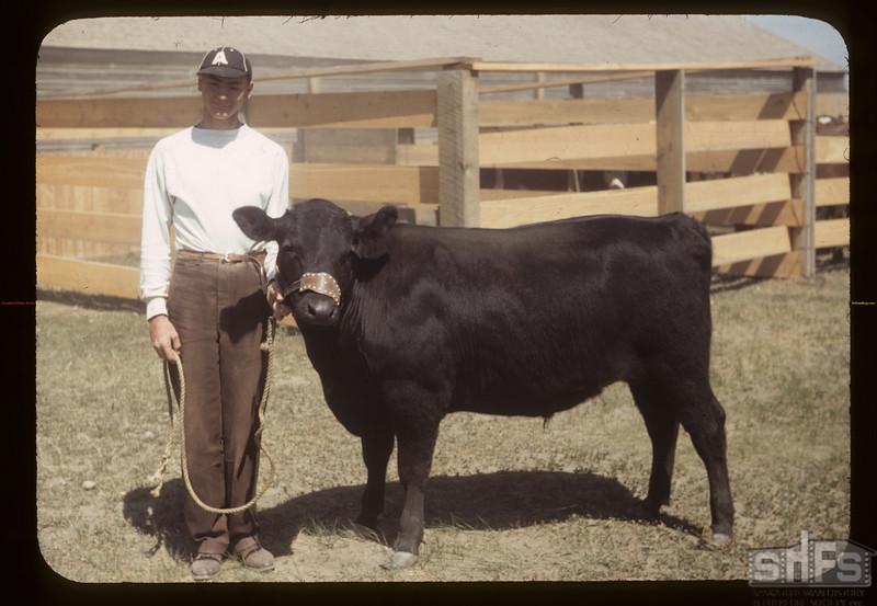 Harold Gray and Grand Champion. Aneroid. 06/08/1949