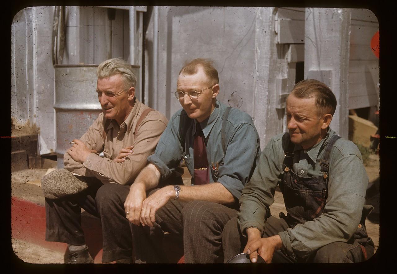Co-operators three; Ed Faber - Pool elevator agent George Farnworth - Co-op store - Harry Wickerstrom Livestock & Co-op oil. Admiral. 08/20/1948