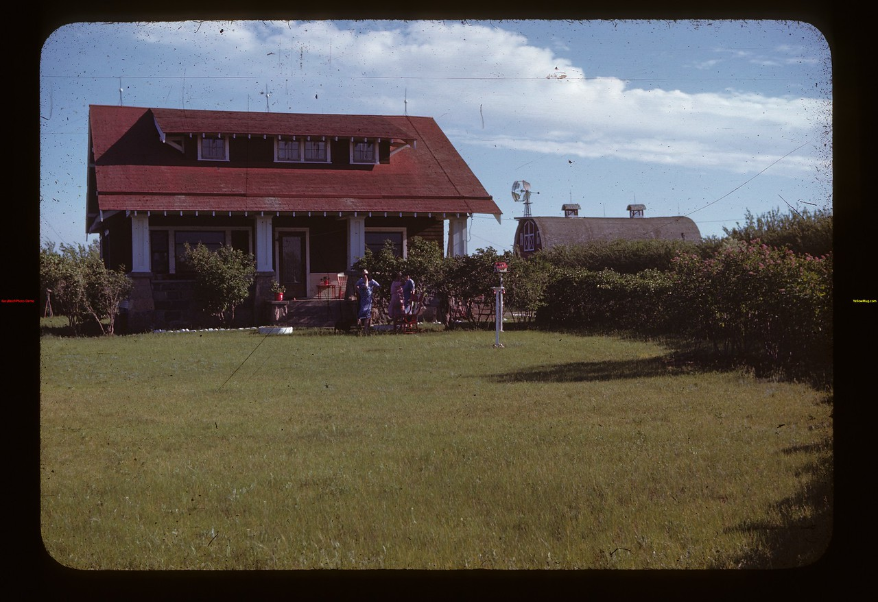 Clyde Rose Home & Lawn. Looking south Liberty 06/15/1946