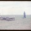 Niel Debolt harvesting stone with fork.  Ferland.  10/03/1953