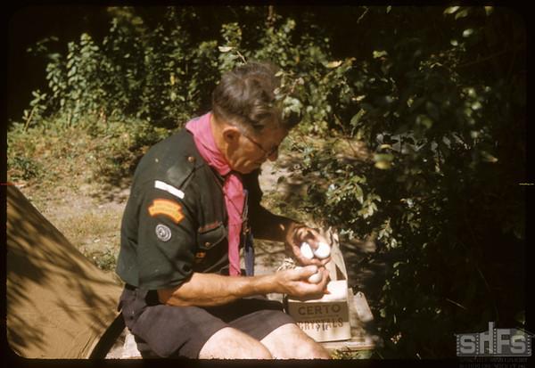 Louis Blair Cheeking Scout Supplies.  South Fork.  08/24/1957