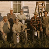 United Church paint crew.  Val Marie.  06/26/1956