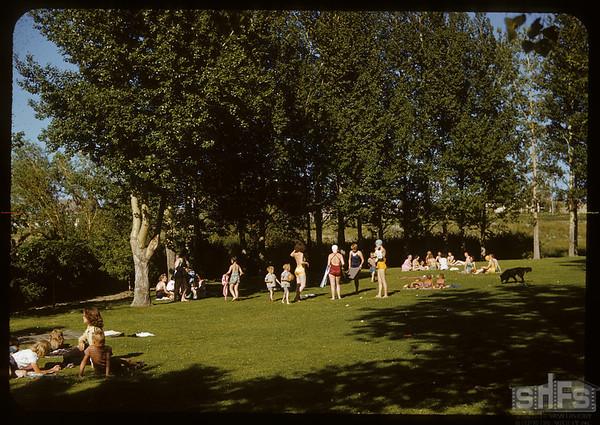 Swift Current park near swimming pool.  Swift Current.  07/05/1950