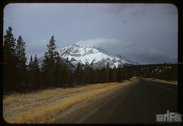 Leaving Banff.  Banff.  01/14/1958